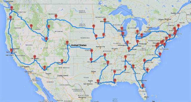Mapping Our Route Planning A Path For Our Year Long Road Trip