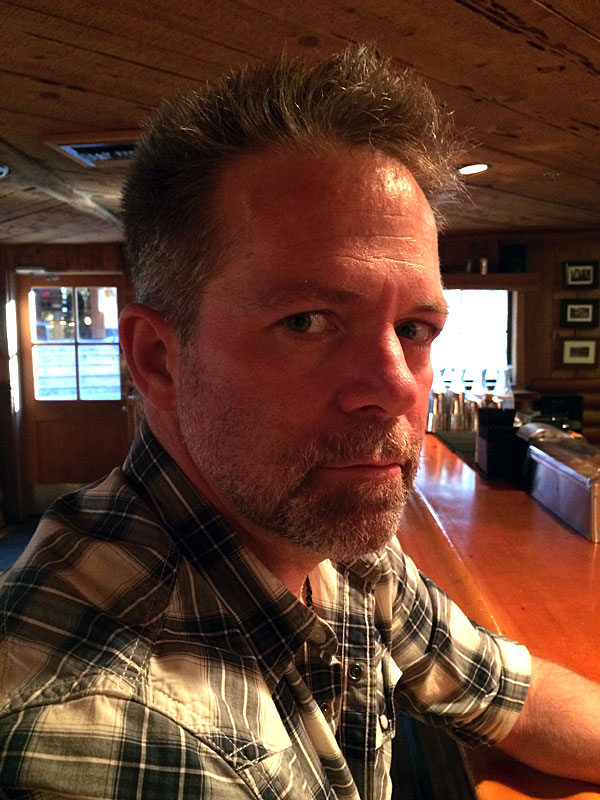 J.D. looking rugged at Evergreen Lodge