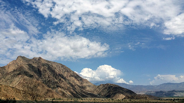 The mountains around Borrego Springs.