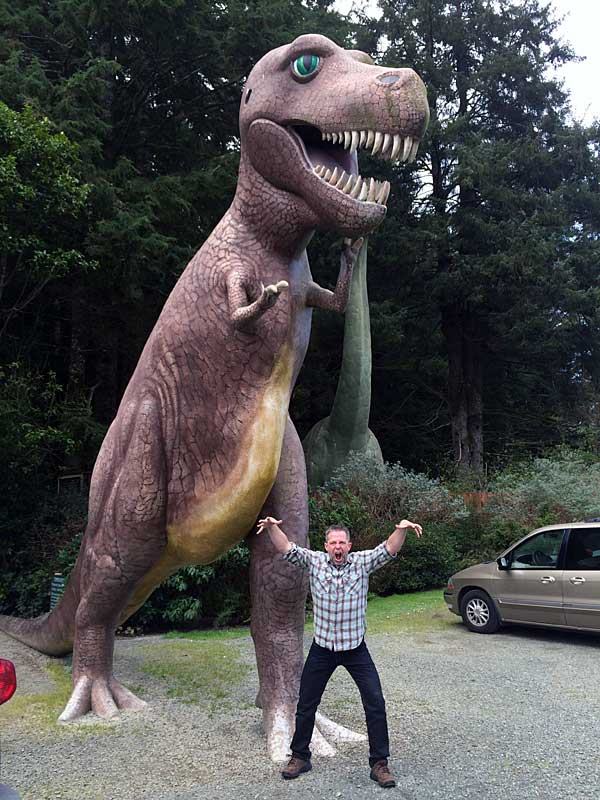 J.D. ain't afraid o' no T-Rex