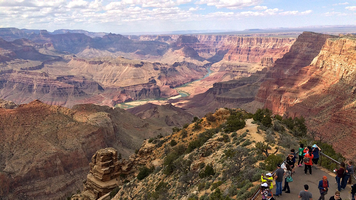 It's the Colorado River far below that has carved this region's landscape