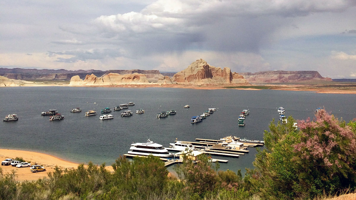 Glen Canyon Dam created Lake Powell, an expansive waterway surrounded by amazing views