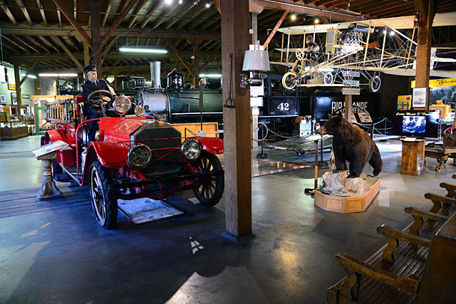 The rail museum features all sorts of neat exhibits