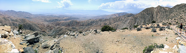 The view from Joshua Tree National Park