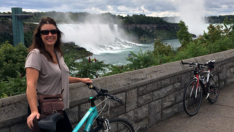 Biking around Niagara Falls