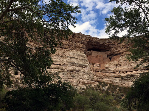 Cliff dwellings at Montezuma Castle