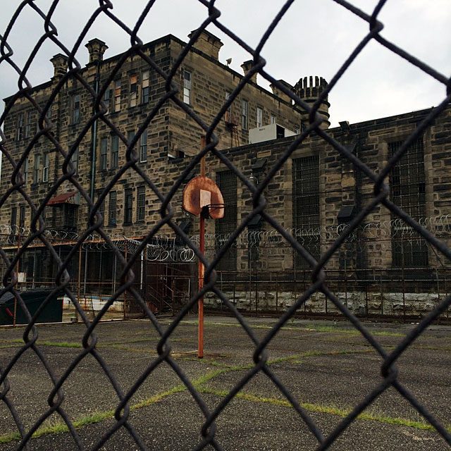 The basketball court at the penitentiary