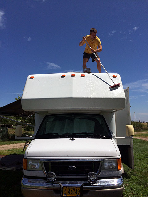 Cleaning the RV