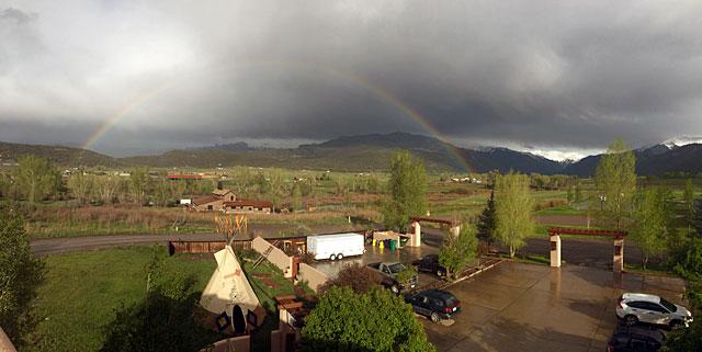 A rainbow over Ridgway