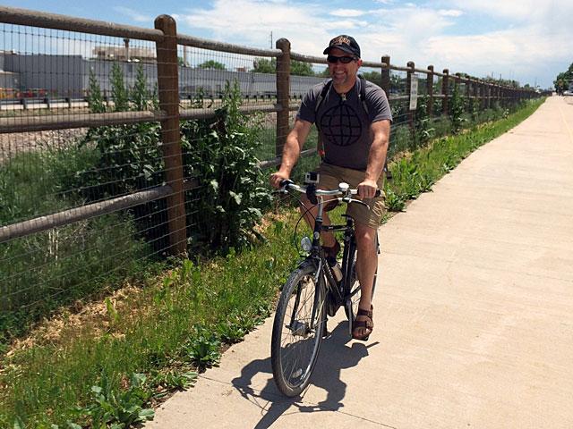 Biking through Fort Collins