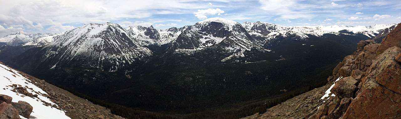 Atop Rocky Mountain National Park