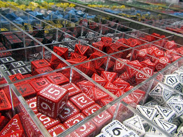 A sea of dice at GenCon