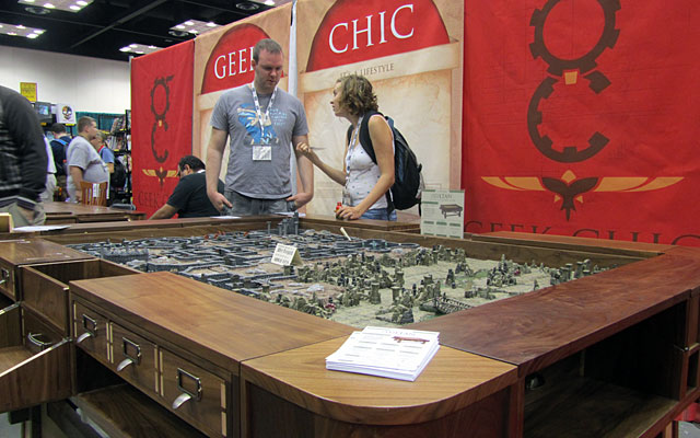 These gaming tables at GenCon were amazing