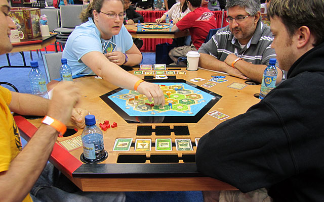 Hundreds (thousands?) of games of Settlers were played at GenCon