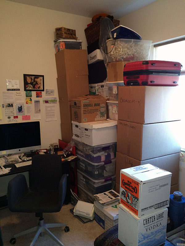 My office will be a storage unit for a year