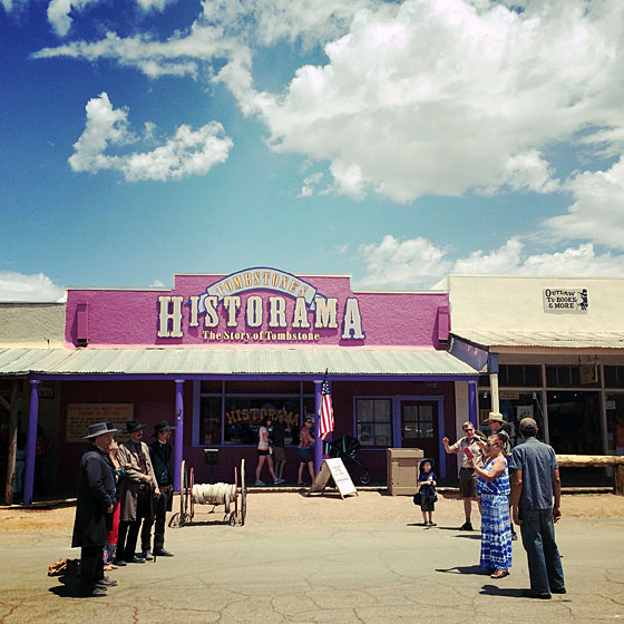 On the streets of Tombstone, Arizona