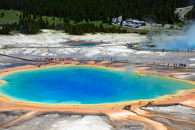 Grand Prismatic Spring is gorgeous!