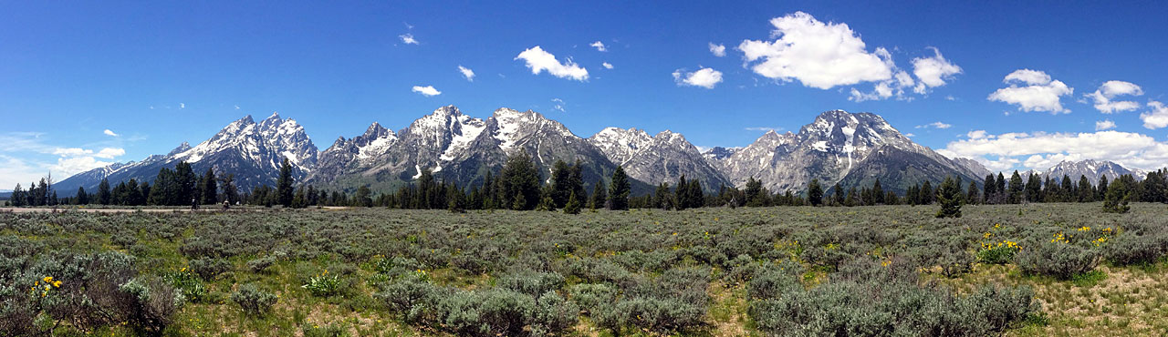 The Tetons are majestic